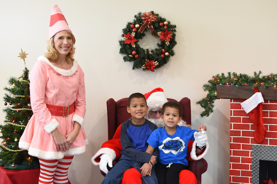 Santa Visits with Children at the Autism Center at Mercy